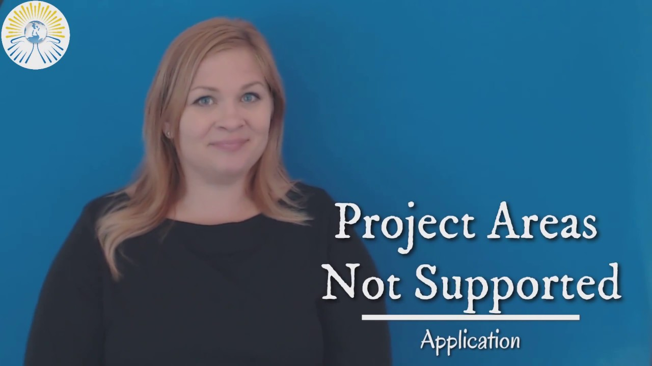 Project Areas Not Supported