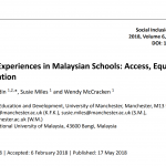 "Screenshot shows the header of the article entitled ""Deaf Learners's Experiences in Malaysian Schools: Access, Equality, and Communication"""