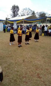 Deaf children dancing at the celebration of the International Week of the Deaf in Morogoro region