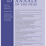 "Cover of an issue of the journal ""American Annals of the Deaf"""