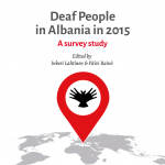 "Cover for the publication ""Deaf People in Albania in 2015: A Survey Study"""