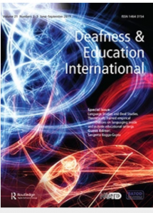 "Cover for the journal ""Deafness & Education International"""