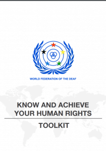 "Cover for the manual entitled ""Know and Achieve Your Human Rights Toolkit"""
