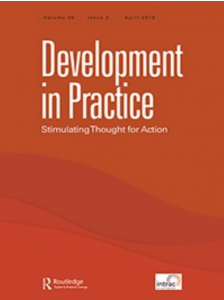 "Cover of the journal ""Development in Practice: Stimulating Thought for Action"""