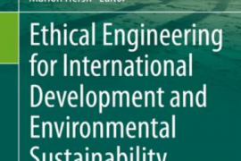 "Cover of the book entitled ""Ethical Engineering for International Development and Environmental Sustainability"""