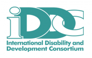 Logo for the International Disability and Development Consortium (IDDC)