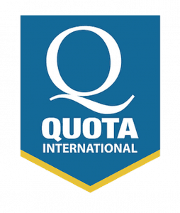The logo for Quota International shows a large capital Q above the name of the organization.