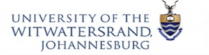 Logo for the University of the Witwatersrand, Johannesburg, shows an image of a medal on a chain next to the name of the university.