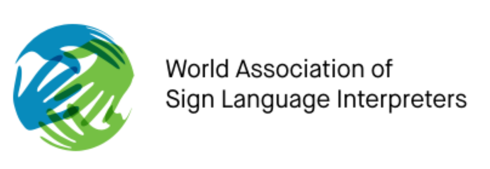 Logo for the World Association of Sign Language Interpreters (WASLI)