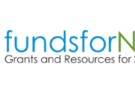 """Logo for """"funds for NGos"""". Below the name of the website is the slogan """"Grants and Resources for NGOs"""""""