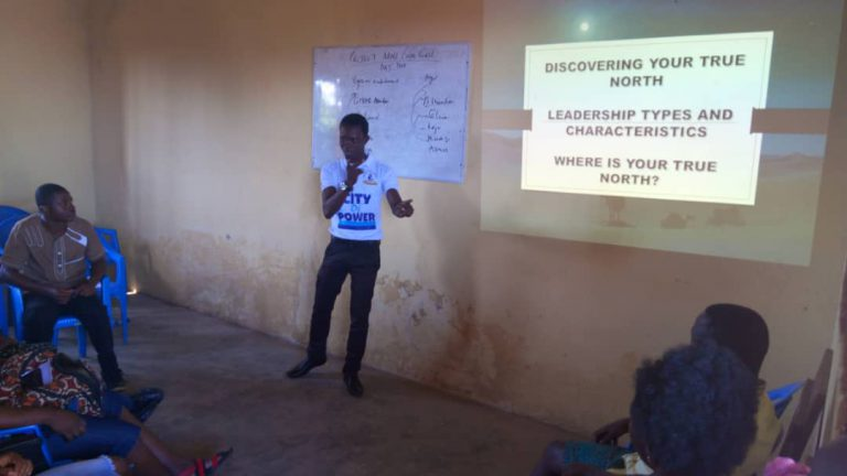 a youth giving a lecture