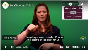 Screenshot from video in which Dr. Christina Yuknis tells a story about a wrong answer that still made sense